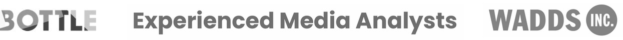 customer logos; Bottle, Experienced Media Analysts, Wadds Inc