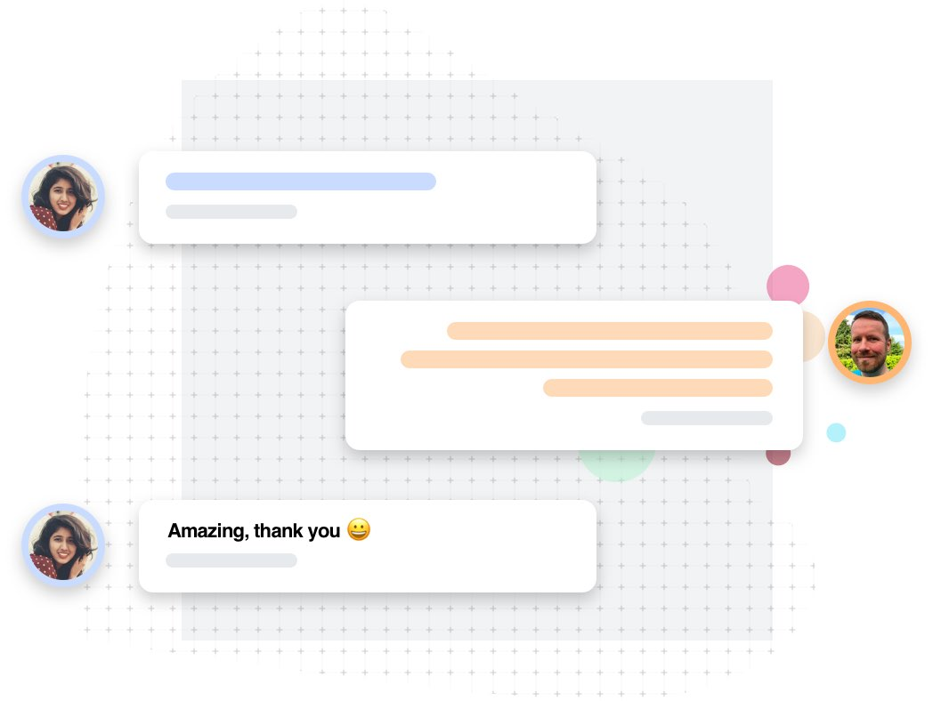 Web chat between a customer and AnswerThePublic online support